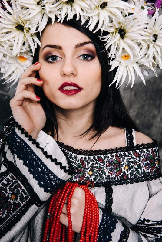 Блузка Черно-белый лен Витенько Елена - фото 1