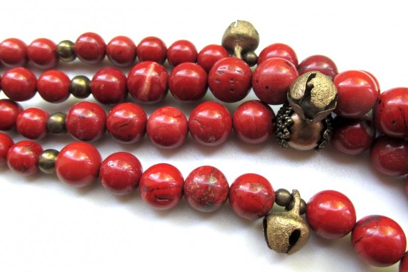 Ожерелье с шелестом  Яшма-кровавик, бижутерные Баклан Елена - фото 2
