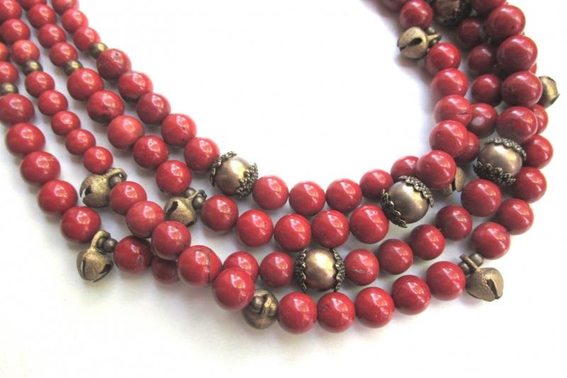 Ожерелье с шелестом  Яшма-кровавик, бижутерные Баклан Елена - фото 5