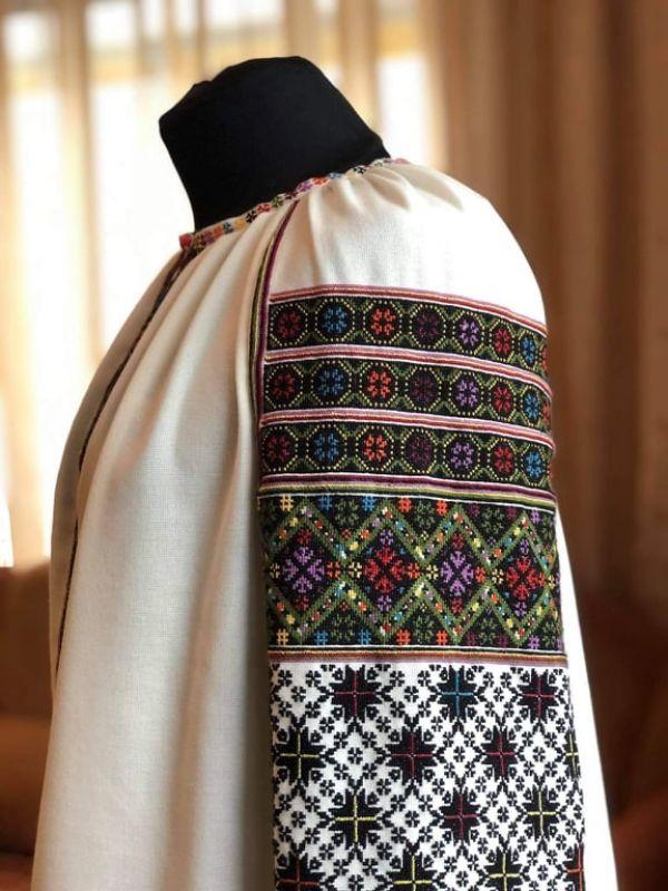 Борщевская вышиванка Белый Домотканное полотно молоч Юрийчук Ганна - фото 2
