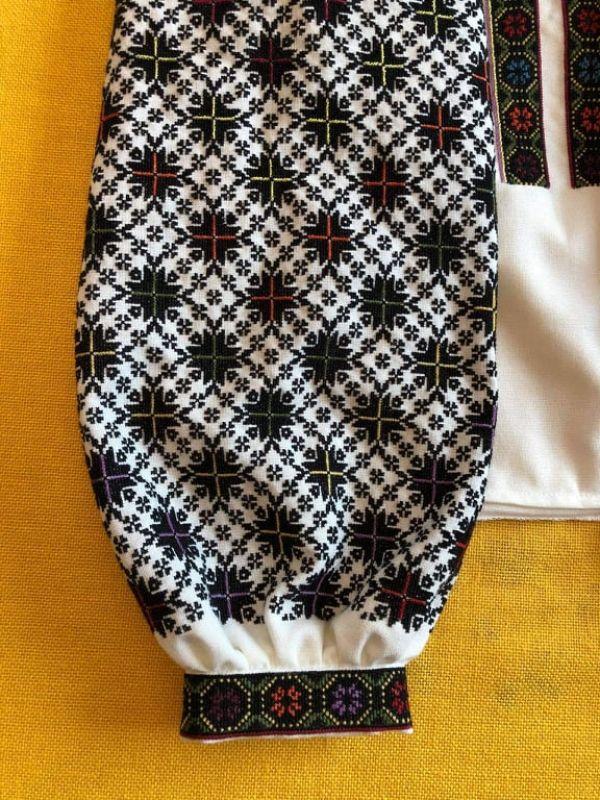 Борщевская вышиванка Белый Домотканное полотно молоч Юрийчук Ганна - фото 4