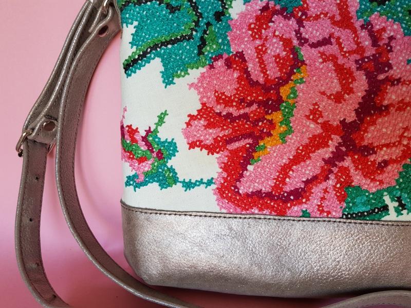Сумка с аутентичной вышивкой  кожа, текстиль Ющенко Владимир - фото 3