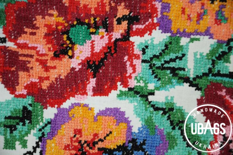 Сумка с аутентичной вышивкой 5 Черный Кожа, хлопок Ющенко Владимир - фото 4