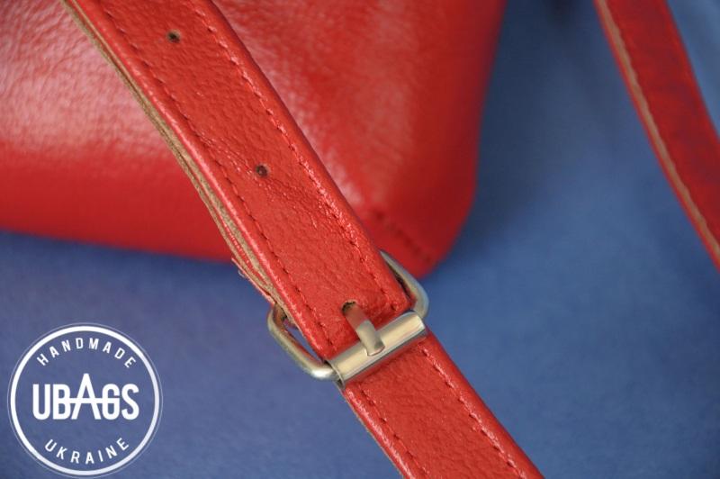 Сумка с аутентичной вышивкой 4 Красный Натуральная кожа, хлопок Ющенко Владимир - фото 4