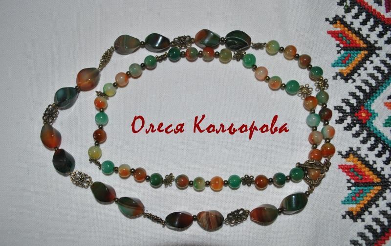 Веснянка Разноцветный Ожерелье из натурального Кольорова Олеся - фото 4