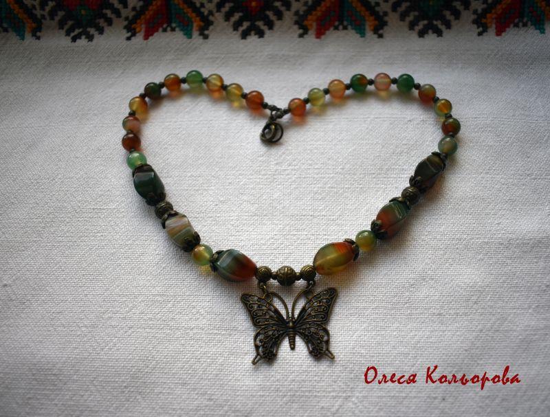 Летнее настроение Разноцветный Ожерелье-чокер из натурал Кольорова Олеся - фото 2