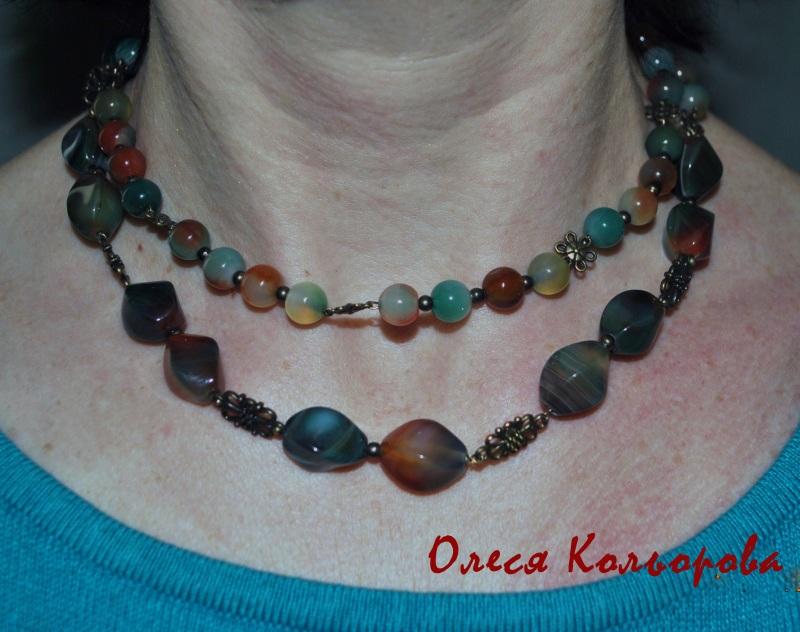 Веснянка Разноцветный Ожерелье из натурального Кольорова Олеся - фото 3