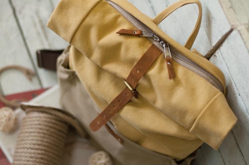 Рюкзак Roll Top Veggie Zipper (желтый) Желтый Хлопок Escargo - фото 3