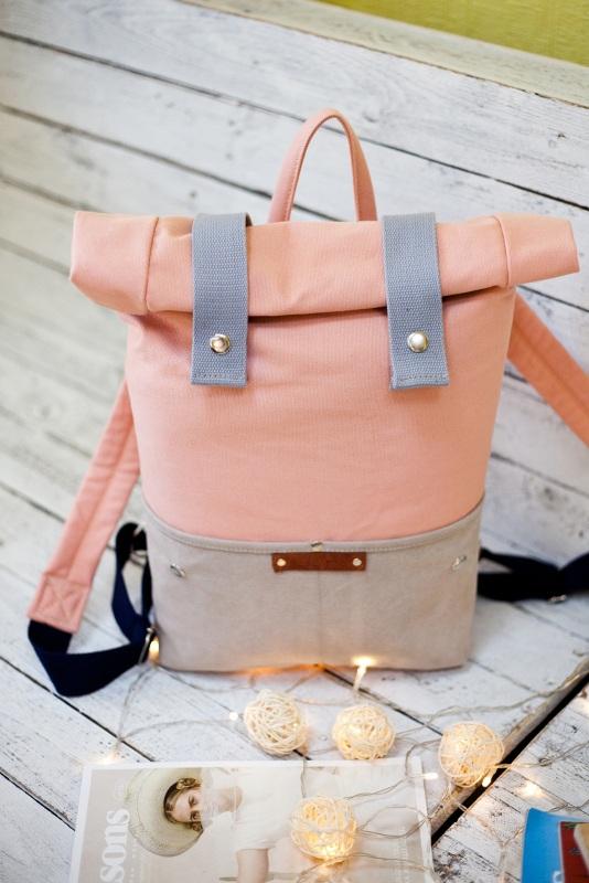 Рюкзак Veggie (серый/розовый) Розовый Хлопок Escargo - фото 3