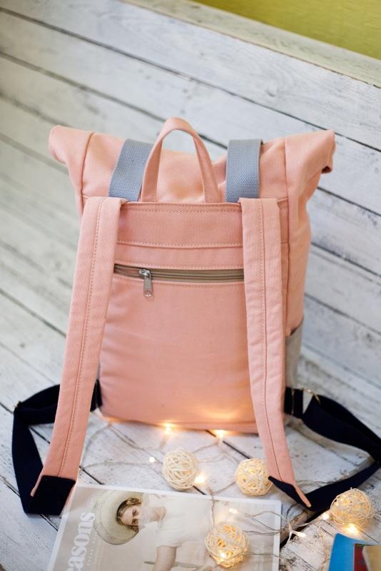 Рюкзак Veggie (серый/розовый) Розовый Хлопок Escargo - фото 2