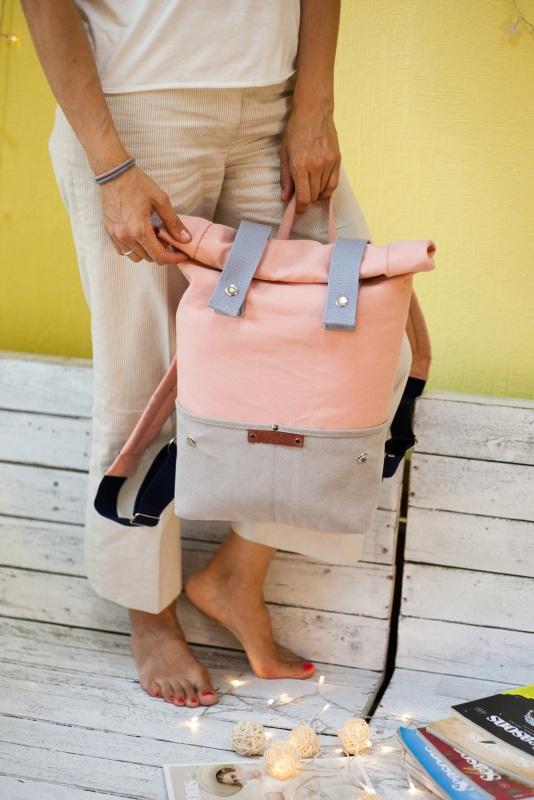Рюкзак Veggie (серый/розовый) Розовый Хлопок Escargo - фото 5