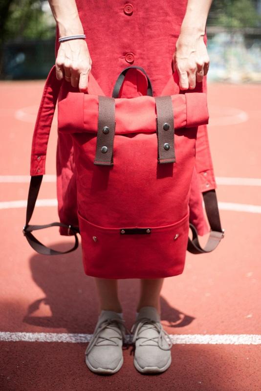 Рюкзак Roll Top Veggie (красный) Красный Хлопок. Escargo - фото 4
