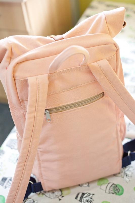 Рюкзак Roll Top Zipper (розовый) Розовый Хлопок Escargo - фото 2