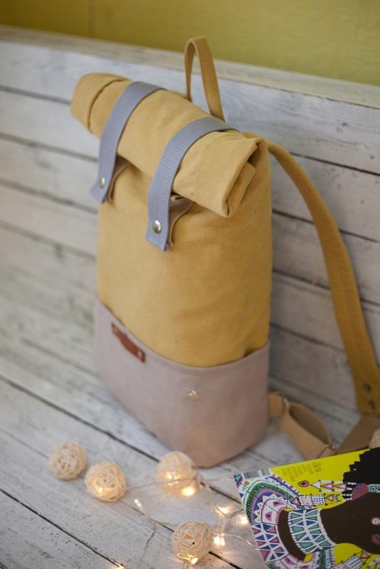 Рюкзак Veggie (желтый) Желтый Хлопок Escargo - фото 4