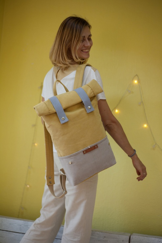 Рюкзак Veggie (желтый) Желтый Хлопок Escargo - фото 2