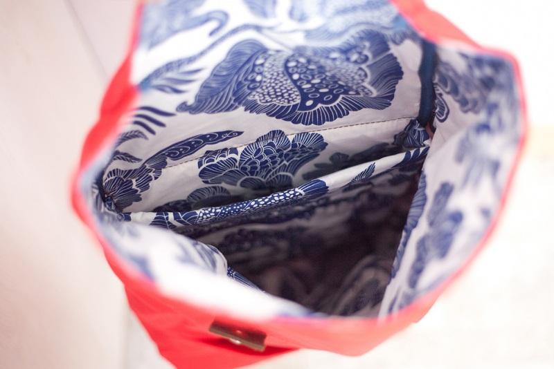Рюкзак Roll Top Veggie (красный) Красный Хлопок. Escargo - фото 5