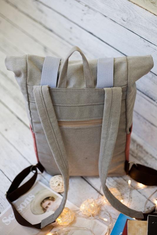 Рюкзак Veggie (серый/терракотовый) Серый Хлопок Escargo - фото 3