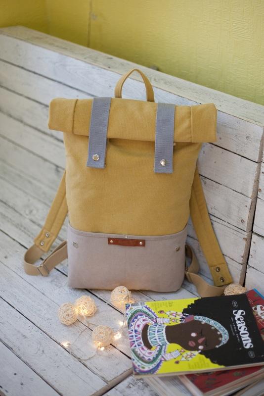 Рюкзак Veggie (желтый) Желтый Хлопок Escargo - фото 1