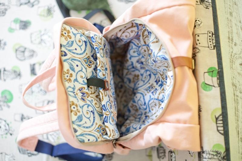 Рюкзак Roll Top Zipper (розовый) Розовый Хлопок Escargo - фото 4