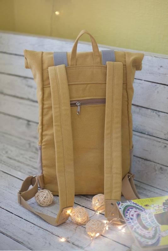 Рюкзак Veggie (желтый) Желтый Хлопок Escargo - фото 3