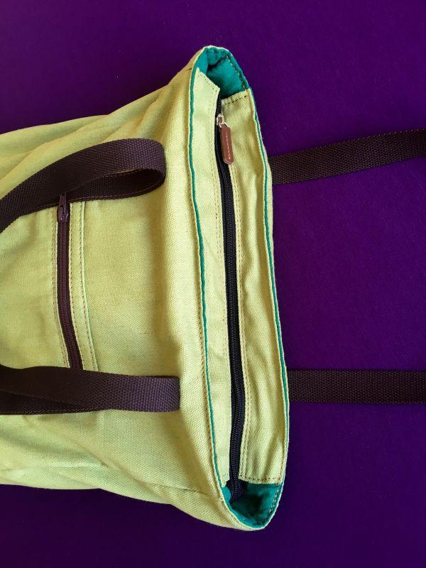 Женская тканевая сумка Желтый Ткань Афына Мирослава - фото 4