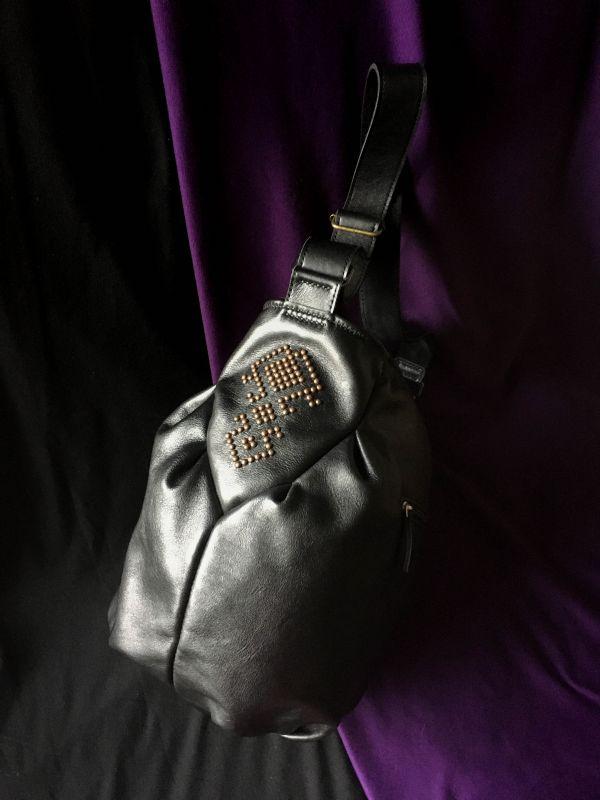 Женская кожаная сумка Черный Кожа, ткань. Афына Мирослава - фото 3