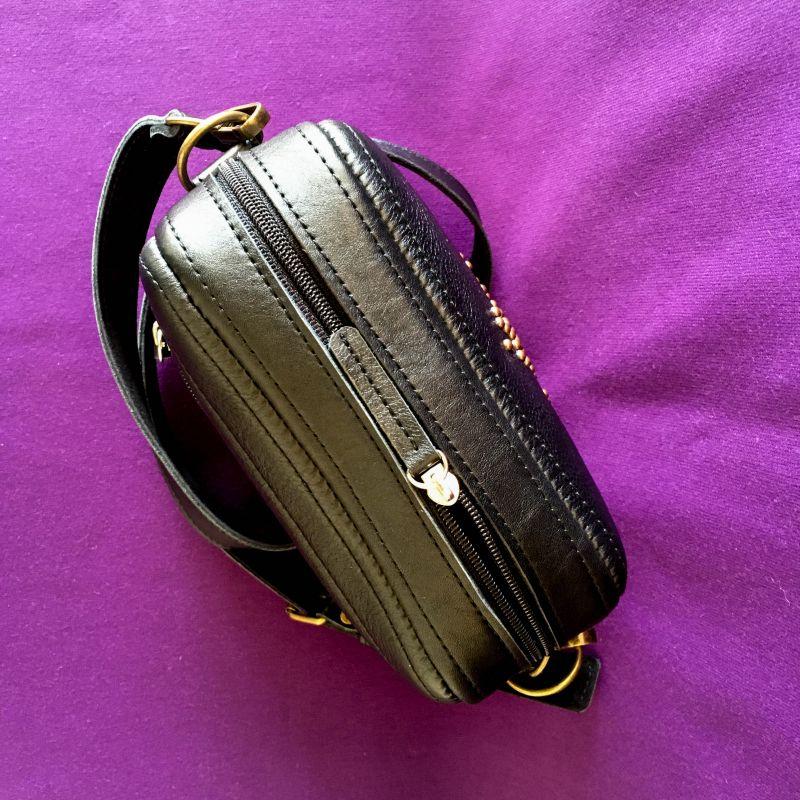 Женская кожаная сумка Черный Кожа Афына Мирослава - фото 2