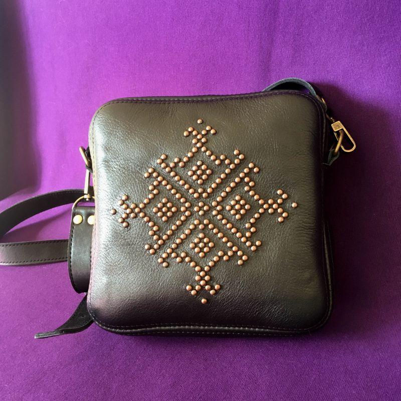 Женская кожаная сумка Черный Кожа Афына Мирослава - фото 6