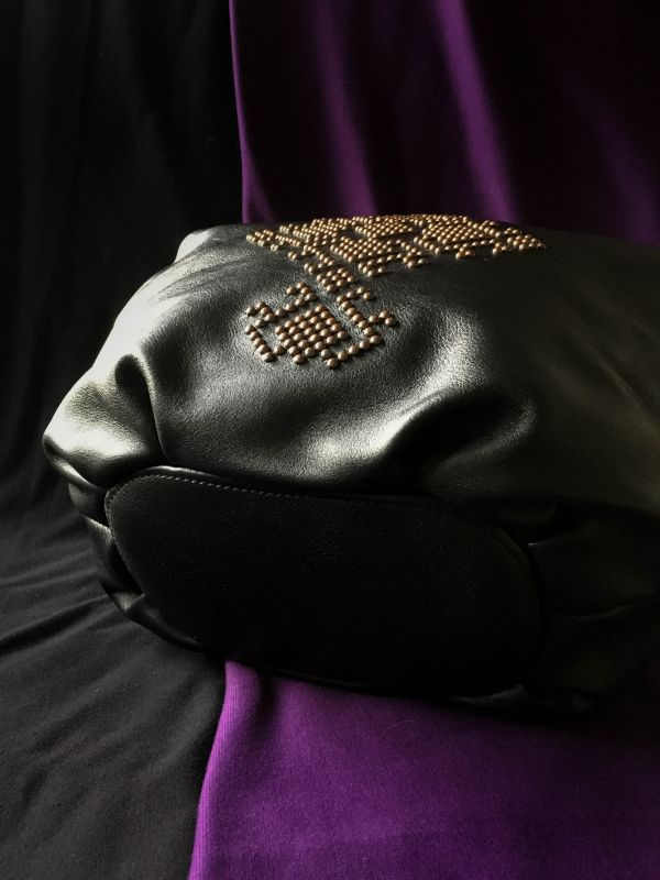 Женская кожаная сумка Черный Кожа, ткань. Афына Мирослава - фото 6