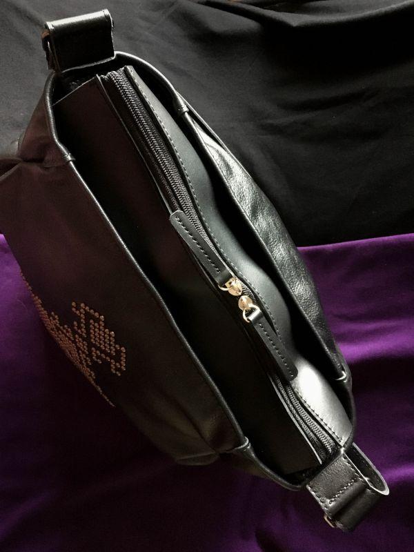 Женская кожаная сумка Черный Кожа, ткань. Афына Мирослава - фото 5