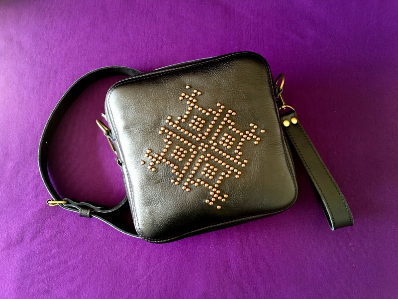 Женская кожаная сумка Черный Кожа Афына Мирослава - фото 8