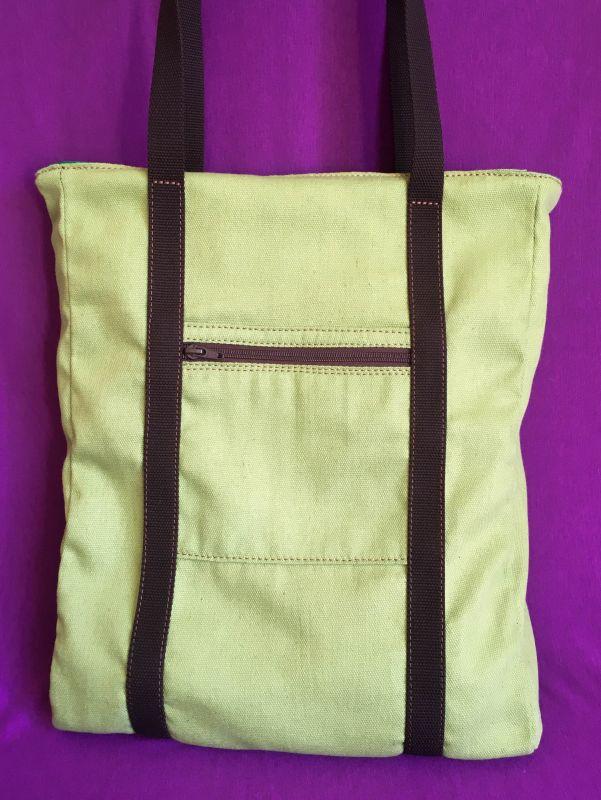 Женская тканевая сумка Желтый Ткань Афына Мирослава - фото 9