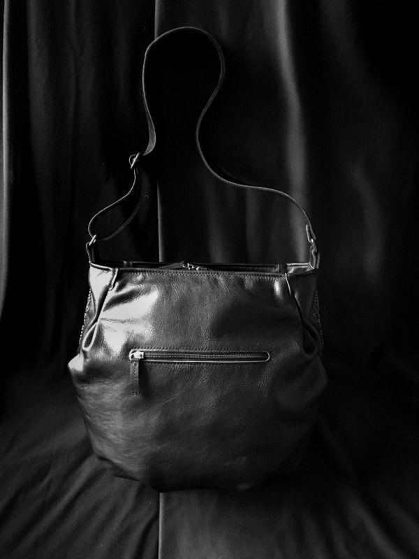 Женская кожаная сумка Черный Кожа, ткань. Афына Мирослава - фото 4