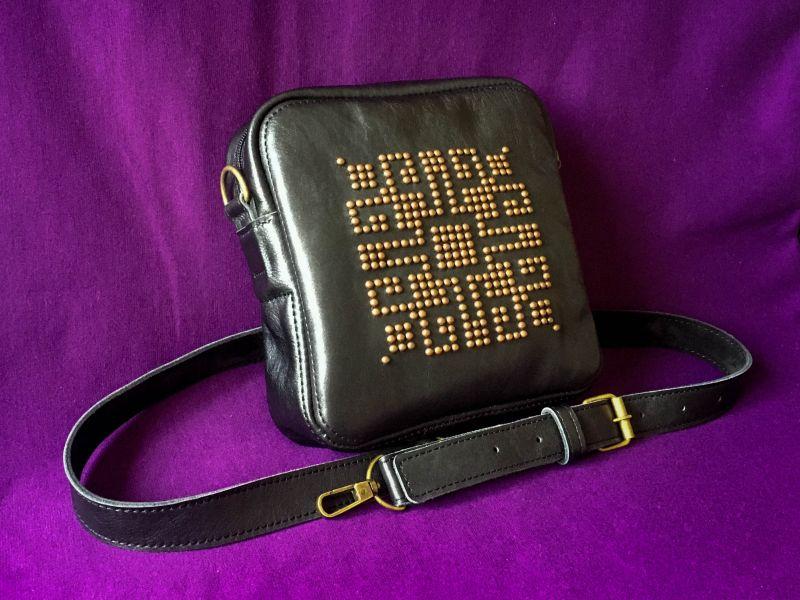 Женская кожаная сумка  кожа, ткань Афына Мирослава - фото 8