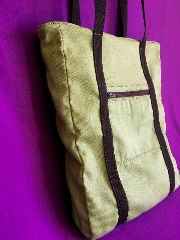 Женская тканевая сумка Желтый Ткань Афына Мирослава - фото 7