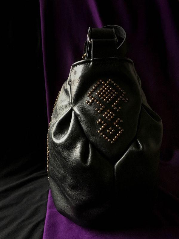 Женская кожаная сумка Черный Кожа, ткань. Афына Мирослава - фото 2