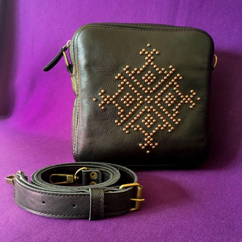 Женская кожаная сумка Черный Кожа Афына Мирослава - фото 5