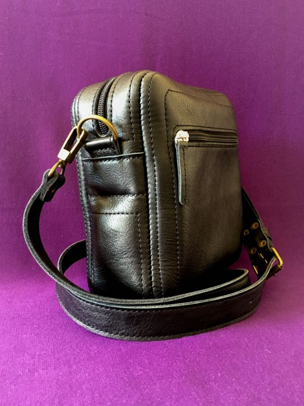 Женская кожаная сумка Черный Кожа Афына Мирослава - фото 3