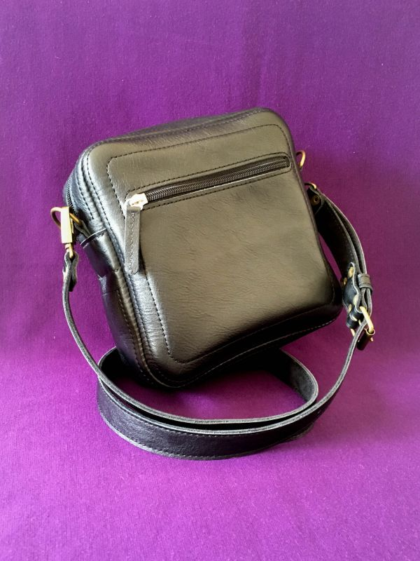 Женская кожаная сумка Черный Кожа Афына Мирослава - фото 4