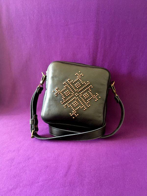 Женская кожаная сумка Черный Кожа Афына Мирослава - фото 1
