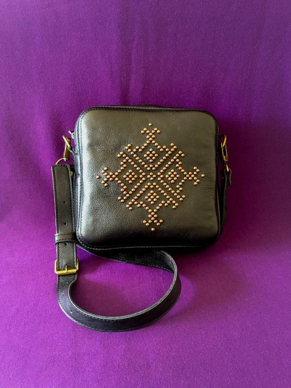 Женская кожаная сумка Черный Кожа Афына Мирослава - фото 7