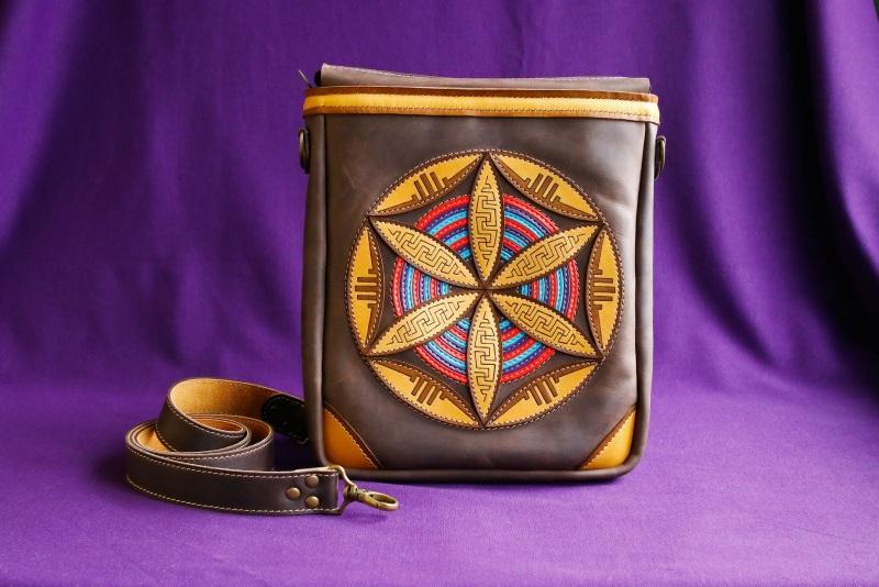 Кожанная сумка Черный Кожа темно-коричневая (шо Афына Мирослава - фото 1