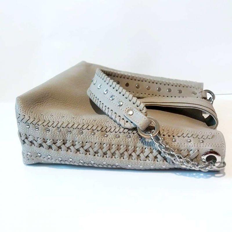Женская сумка 01 Белый натуральная кожа Гебель Светлана - фото 4