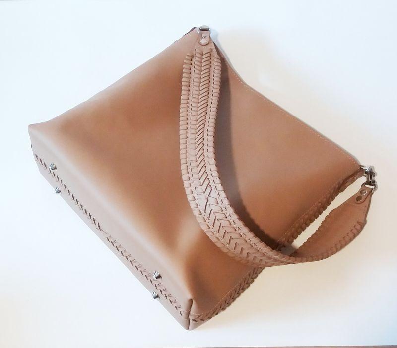 Женская сумка 02 Бежевый  натуральная кожа Гебель Светлана - фото 6