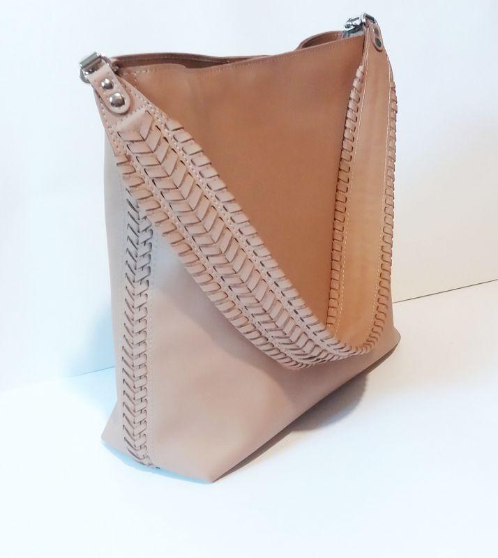 Женская сумка 02 Бежевый  натуральная кожа Гебель Светлана - фото 3