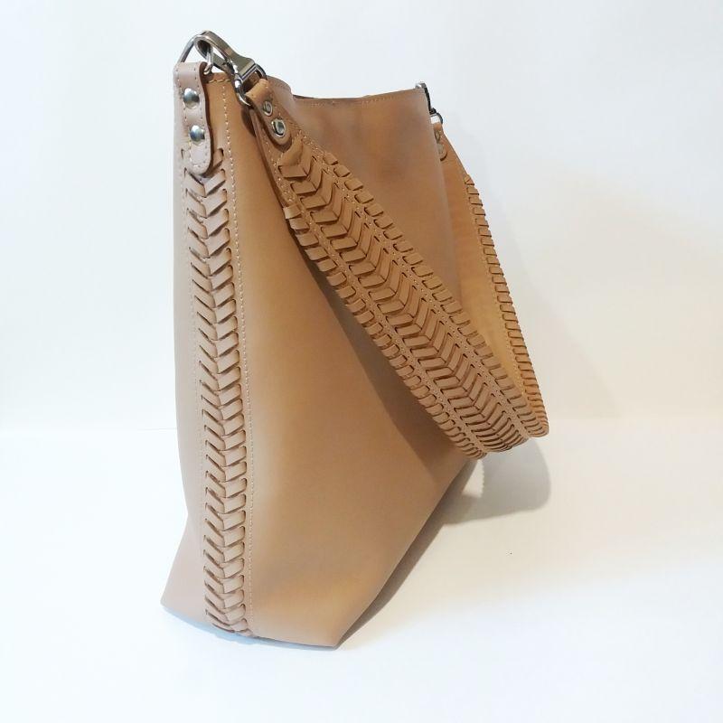 Женская сумка 02 Бежевый  натуральная кожа Гебель Светлана - фото 2