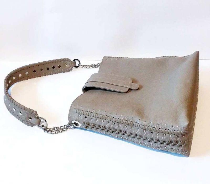 Женская сумка 01 Белый натуральная кожа Гебель Светлана - фото 6