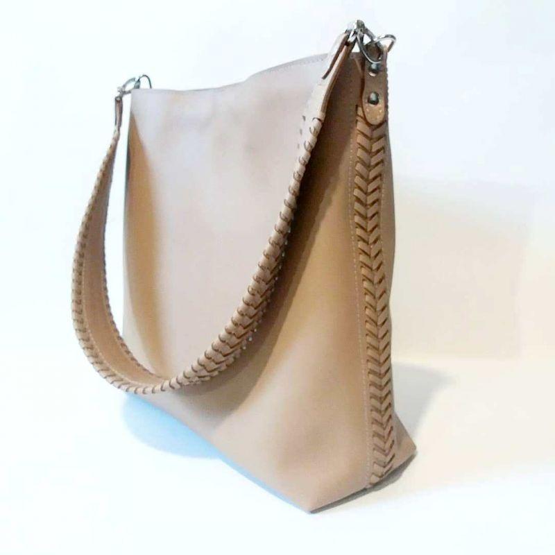 Женская сумка 02 Бежевый  натуральная кожа Гебель Светлана - фото 5