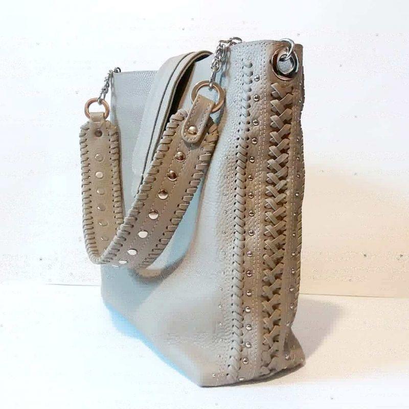 Женская сумка 01 Белый натуральная кожа Гебель Светлана - фото 2