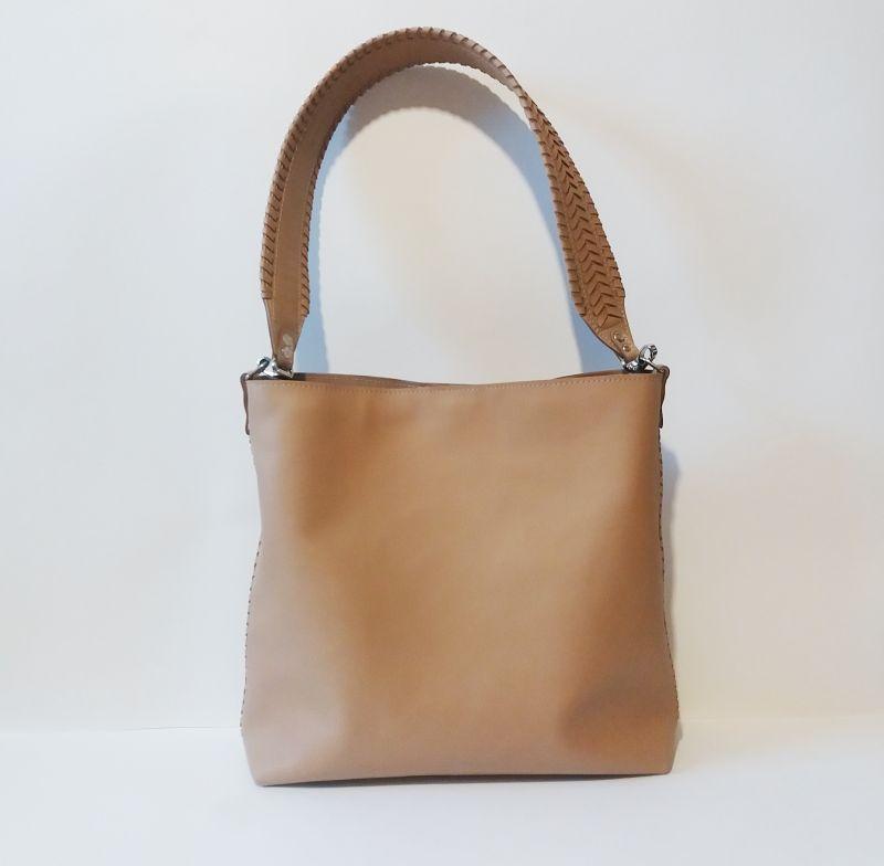 Женская сумка 02 Бежевый  натуральная кожа Гебель Светлана - фото 9